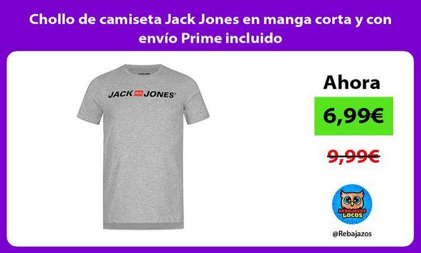 Chollo de camiseta Jack Jones en manga corta y con envío Prime incluido