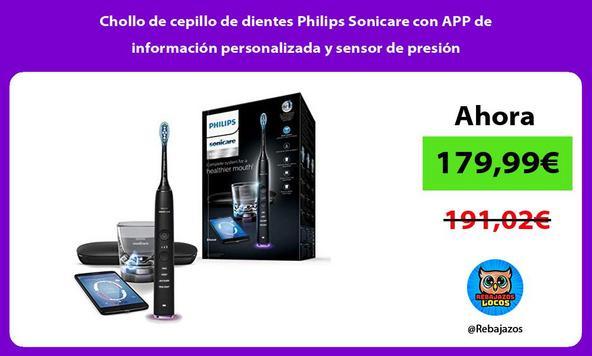 Chollo de cepillo de dientes Philips Sonicare con APP de información personalizada y sensor de presión