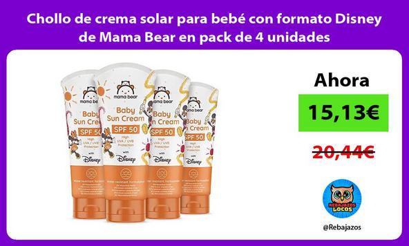 Chollo de crema solar para bebé con formato Disney de Mama Bear en pack de 4 unidades