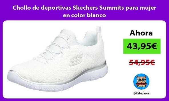 Chollo de deportivas Skechers Summits para mujer en color blanco