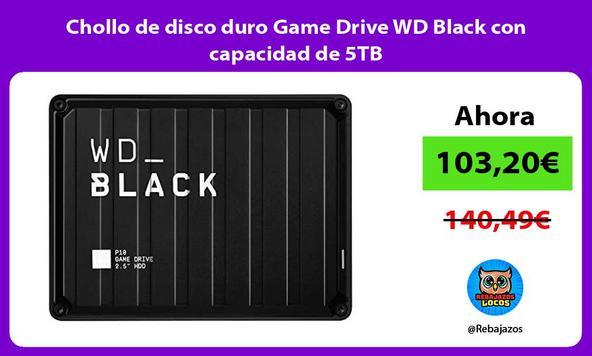 Chollo de disco duro Game Drive WD Black con capacidad de 5TB