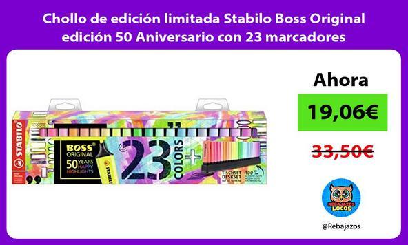 Chollo de edición limitada Stabilo Boss Original edición 50 Aniversario con 23 marcadores