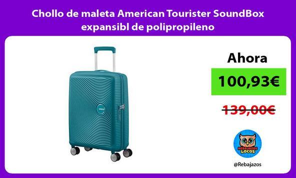Chollo de maleta American Tourister SoundBox expansibl de polipropileno