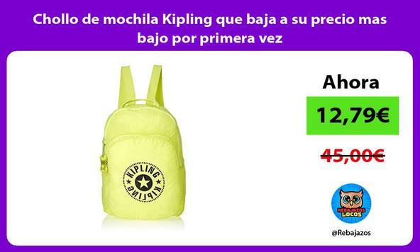 Chollo de mochila Kipling que baja a su precio mas bajo por primera vez