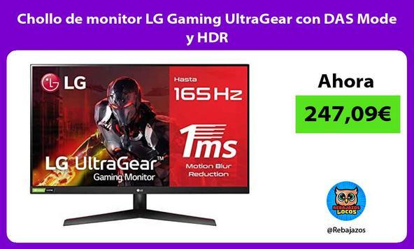 Chollo de monitor LG Gaming UltraGear con DAS Mode y HDR