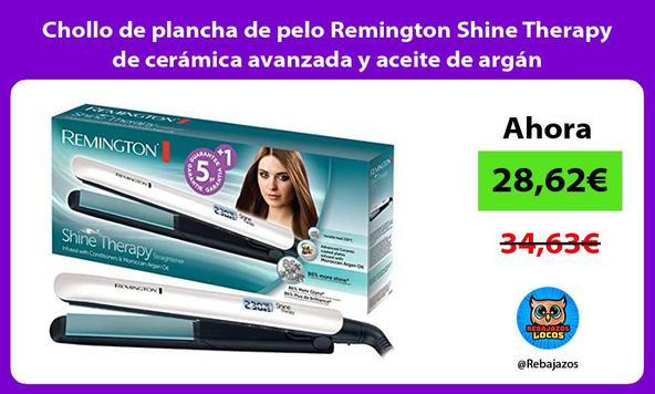 Chollo de plancha de pelo Remington Shine Therapy de cerámica avanzada y aceite de argán