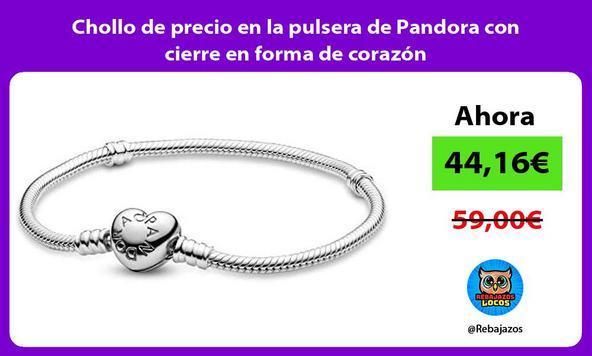 Chollo de precio en la pulsera de Pandora con cierre en forma de corazón