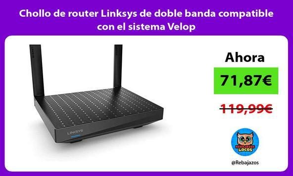 Chollo de router Linksys de doble banda compatible con el sistema Velop