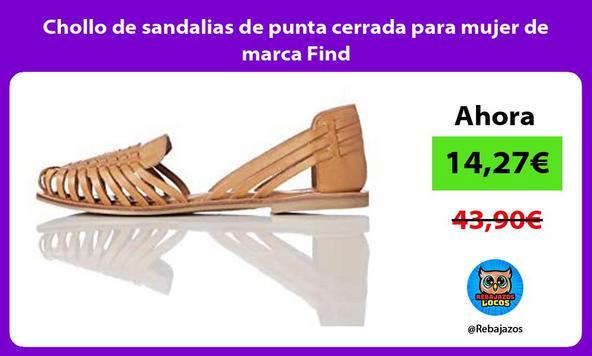 Chollo de sandalias de punta cerrada para mujer de marca Find