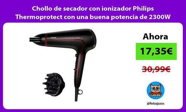 Chollo de secador con ionizador Philips Thermoprotect con una buena potencia de 2300W