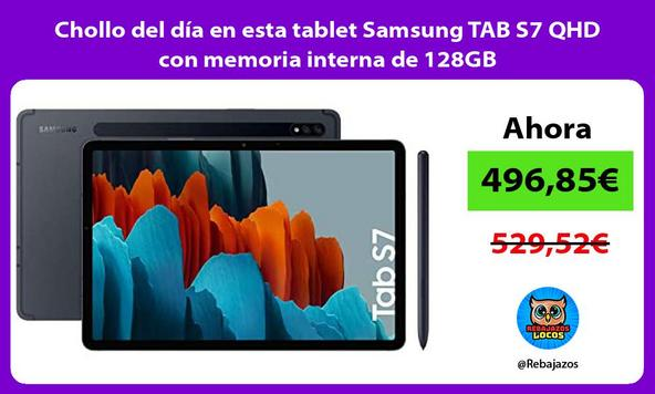 Chollo del día en esta tablet Samsung TAB S7 QHD con memoria interna de 128GB
