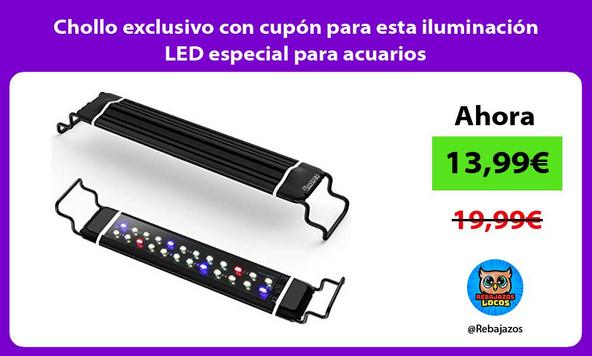 Chollo exclusivo con cupón para esta iluminación LED especial para acuarios