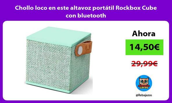 Chollo loco en este altavoz portátil Rockbox Cube con bluetooth