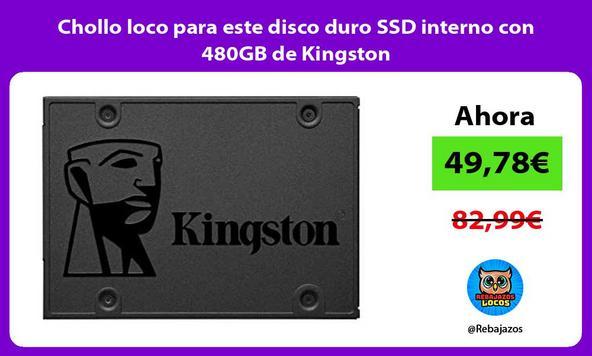 Chollo loco para este disco duro SSD interno con 480GB de Kingston