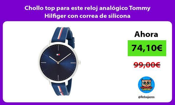 Chollo top para este reloj analógico Tommy Hilfiger con correa de silicona