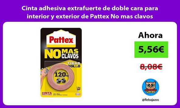 Cinta adhesiva extrafuerte de doble cara para interior y exterior de Pattex No mas clavos