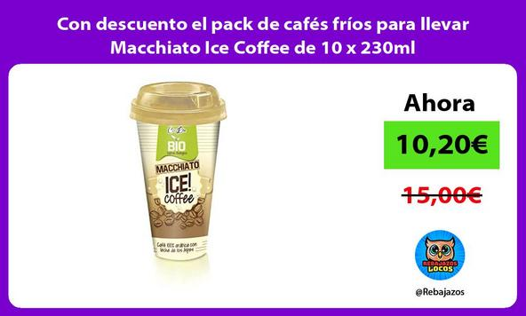 Con descuento el pack de cafés fríos para llevar Macchiato Ice Coffee de 10 x 230ml