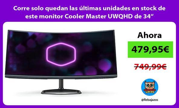 """Corre solo quedan las últimas unidades en stock de este monitor Cooler Master UWQHD de 34"""""""