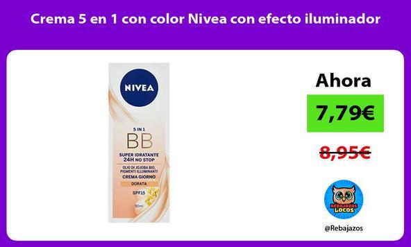 Crema 5 en 1 con color Nivea con efecto iluminador