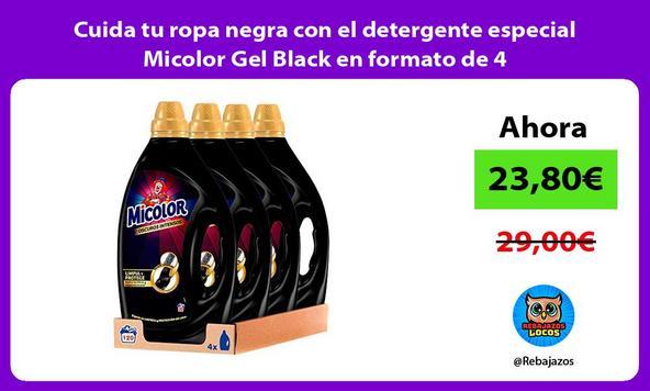 Cuida tu ropa negra con el detergente especial Micolor Gel Black en formato de 4