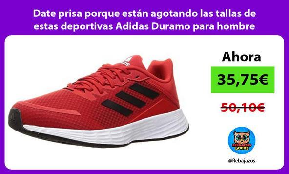 Date prisa porque están agotando las tallas de estas deportivas Adidas Duramo para hombre