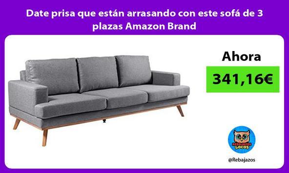 Date prisa que están arrasando con este sofá de 3 plazas Amazon Brand