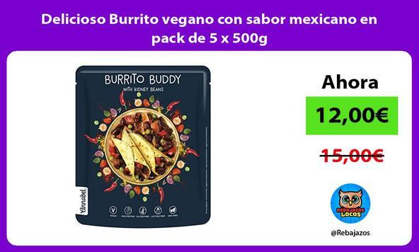 Delicioso Burrito vegano con sabor mexicano en pack de 5 x 500g
