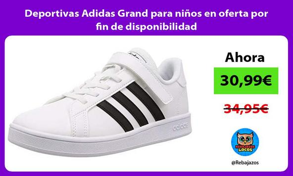 Deportivas Adidas Grand para niños en oferta por fin de disponibilidad