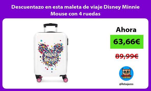 Descuentazo en esta maleta de viaje Disney Minnie Mouse con 4 ruedas