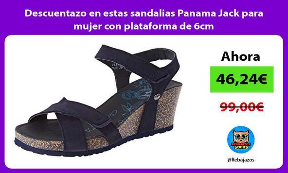 Descuentazo en estas sandalias Panama Jack para mujer con plataforma de 6cm