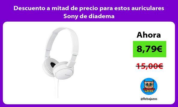 Descuento a mitad de precio para estos auriculares Sony de diadema