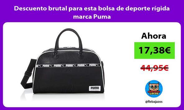 Descuento brutal para esta bolsa de deporte rígida marca Puma