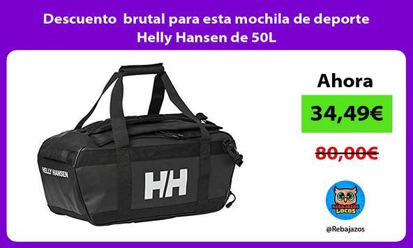 Descuento brutal para esta mochila de deporte Helly Hansen de 50L
