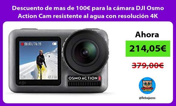 Descuento de mas de 100€ para la cámara DJI Osmo Action Cam resistente al agua con resolución 4K