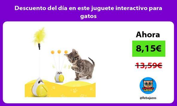 Descuento del día en este juguete interactivo para gatos
