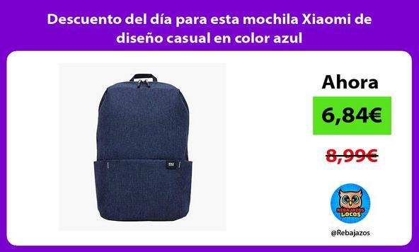 Descuento del día para esta mochila Xiaomi de diseño casual en color azul