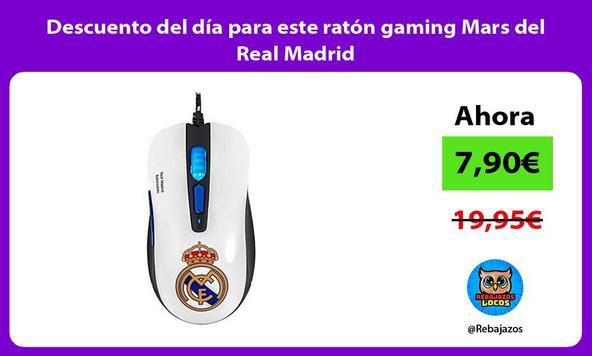 Descuento del día para este ratón gaming Mars del Real Madrid