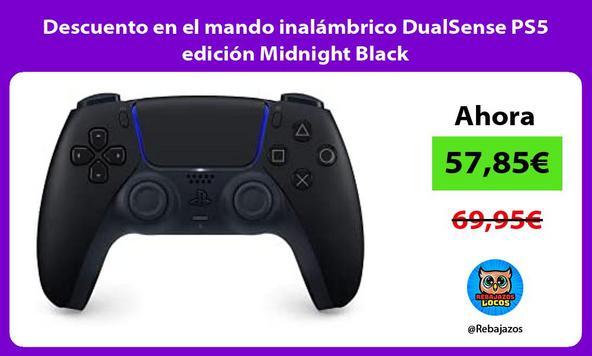 Descuento en el mando inalámbrico DualSense PS5 edición Midnight Black