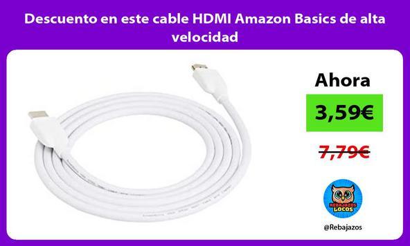 Descuento en este cable HDMI Amazon Basics de alta velocidad
