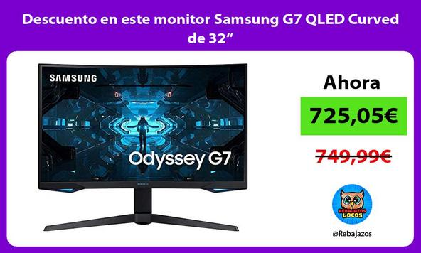 """Descuento en este monitor Samsung G7 QLED Curved de 32"""""""
