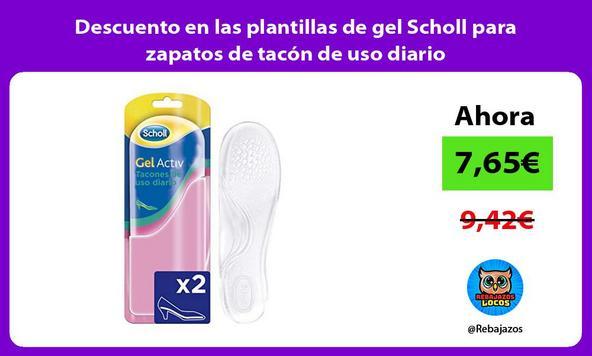 Descuento en las plantillas de gel Scholl para zapatos de tacón de uso diario