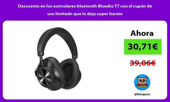 Descuento en los auriculares bluetooth Bluedio T7 con el cupón de uso limitado que lo deja super barato