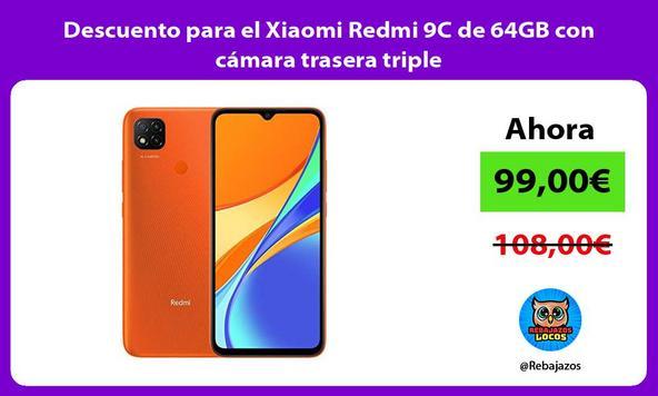 Descuento para el Xiaomi Redmi 9C de 64GB con cámara trasera triple