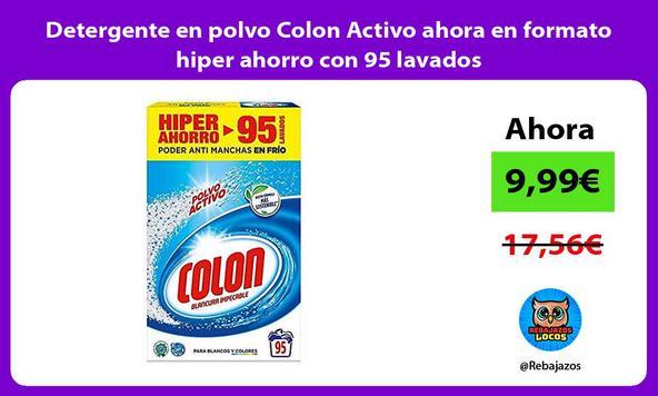 Detergente en polvo Colon Activo ahora en formato hiper ahorro con 95 lavados