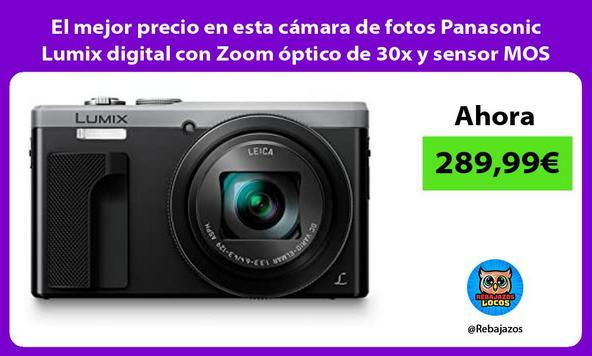 El mejor precio en esta cámara de fotos Panasonic Lumix digital con Zoom óptico de 30x y sensor MOS