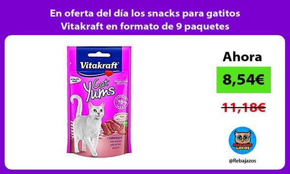 En oferta del día los snacks para gatitos Vitakraft en formato de 9 paquetes