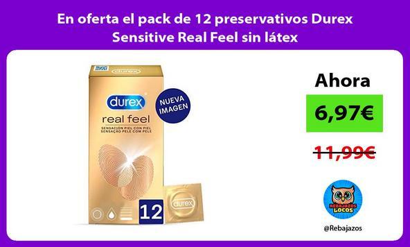 En oferta el pack de 12 preservativos Durex Sensitive Real Feel sin látex