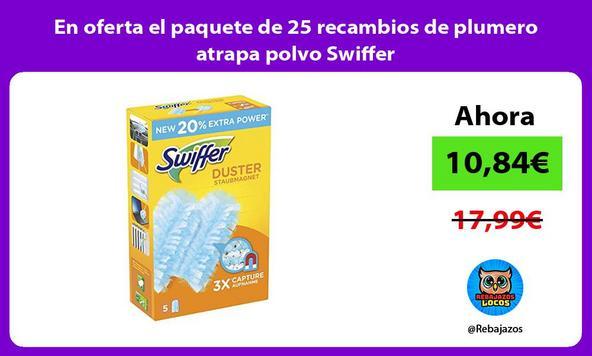 En oferta el paquete de 25 recambios de plumero atrapa polvo Swiffer