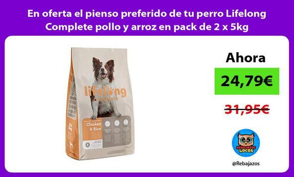 En oferta el pienso preferido de tu perro Lifelong Complete pollo y arroz en pack de 2 x 5kg