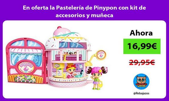 En oferta la Pastelería de Pinypon con kit de accesorios y muñeca